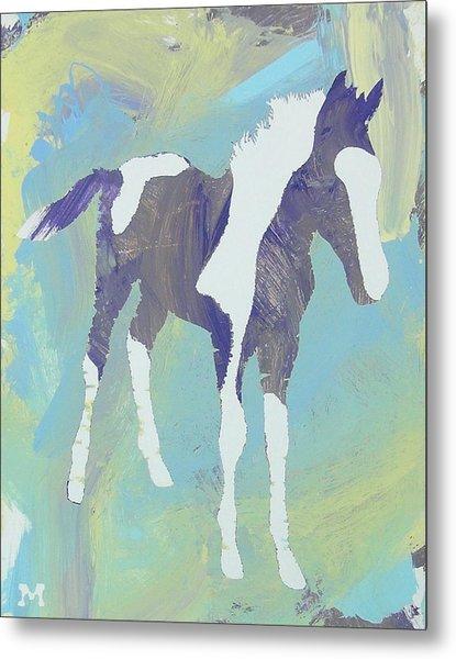 Painted Foal Metal Print