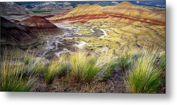 Painted Hills From Overlook Trail Metal Print by Adele Buttolph