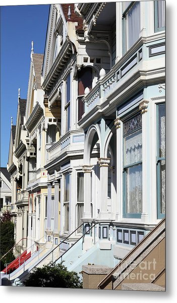Painted Ladies Of Alamo Square San Francisco California 5d28021 Metal Print