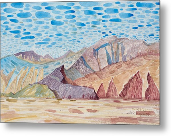 Painted Mountain II Metal Print by Vaughan Davies