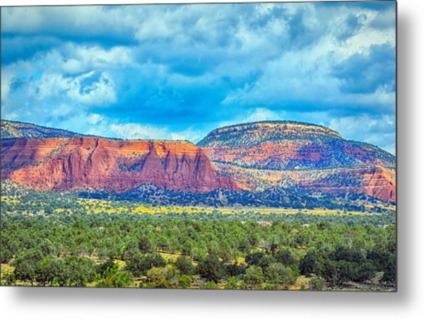 Painted New Mexico Metal Print