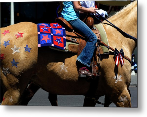 Metal Print featuring the photograph Painted Pony by Lorraine Devon Wilke