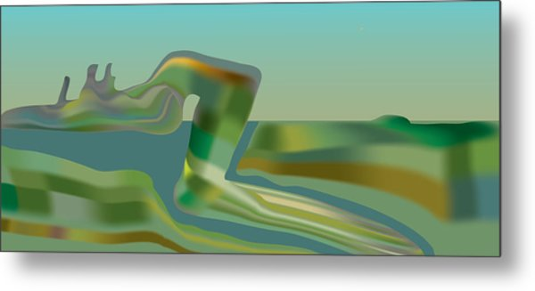 Painted Riverland Metal Print