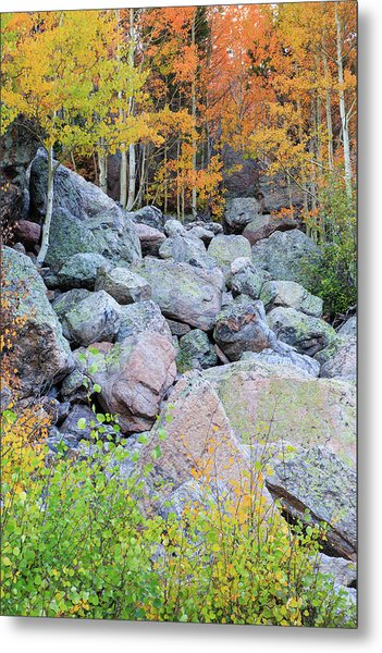 Painted Rocks Metal Print