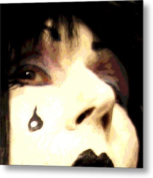 Painted Tear Drop Metal Print