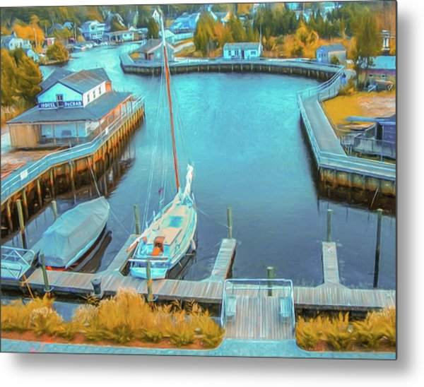 Painterly Tuckerton Seaport Metal Print