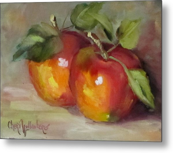 Painting Of Delicious Apples Metal Print