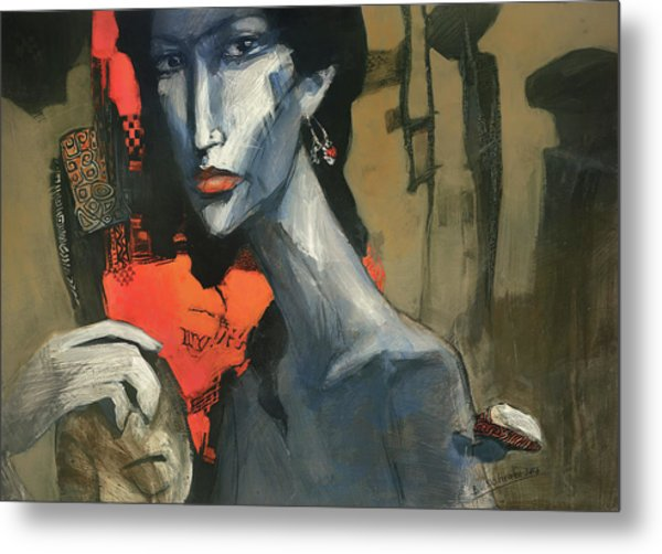 Painting Of The Lady _ 1 Metal Print