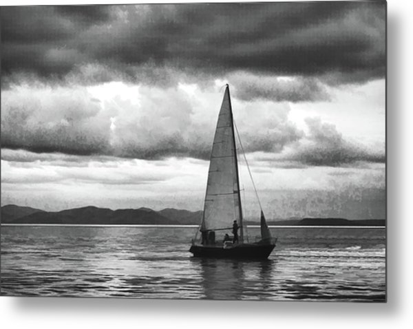 Painting Sale Under Stormy Clouds Metal Print