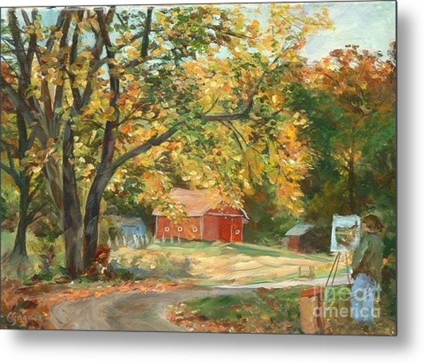 Painting The Fall Colors Metal Print