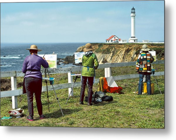 Painting The Point Metal Print