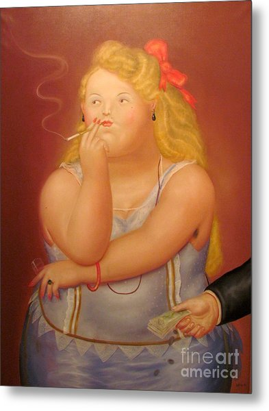 Painting Woman Metal Print