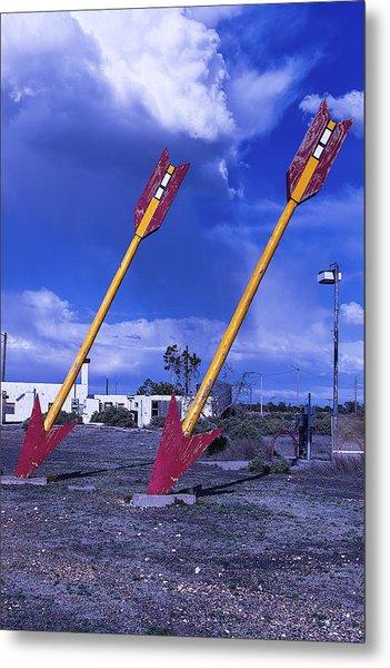 Pair Of Roadside Arrows Metal Print