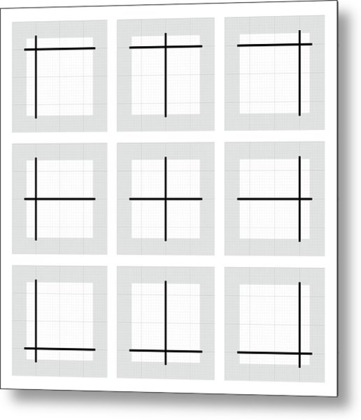 Paired Lines - 24 Metal Print