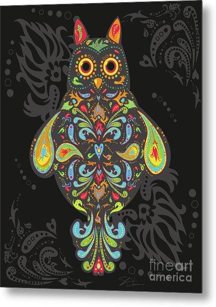 Paisley Owl Metal Print