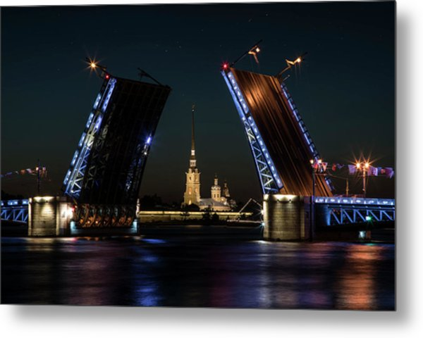 Palace Bridge At Night Metal Print