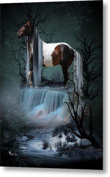 Pinto  Falls Metal Print