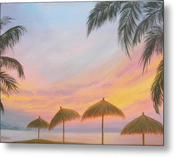 Palapa Point Metal Print