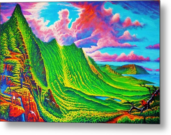 Pali Lookout Metal Print