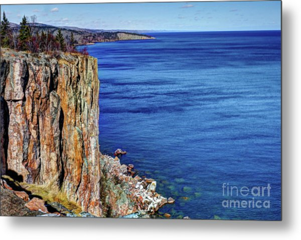 Palisade Head Tettegouche State Park North Shore Lake Superior Mn Metal Print