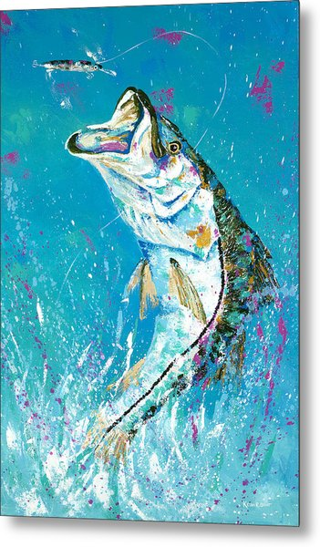 Pallet Knife Jumping Snook Metal Print