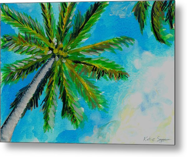 Palm In The Sky Metal Print