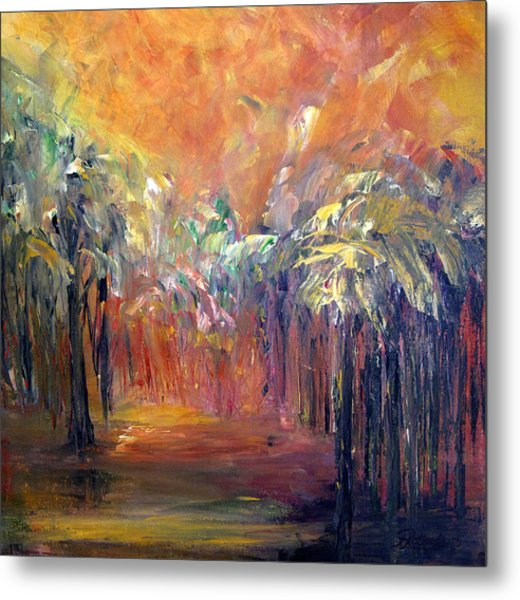 Palm Passage Metal Print