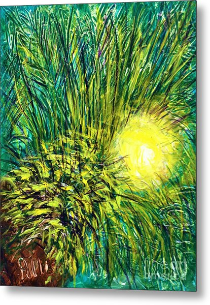 Palm Sunburst  Metal Print