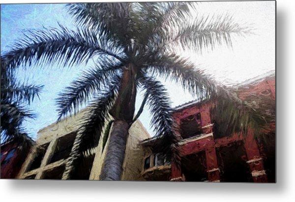 Palm Tree Art Metal Print