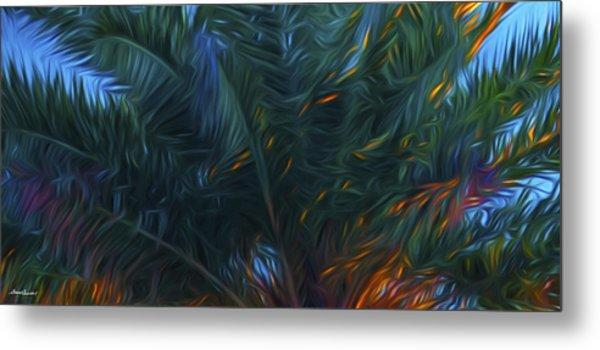 Palm Tree In The Sun Metal Print