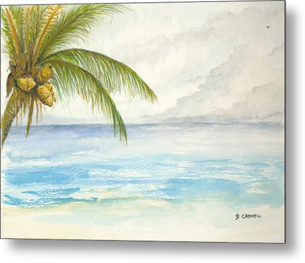 Metal Print featuring the digital art Palm Tree Study by Darren Cannell