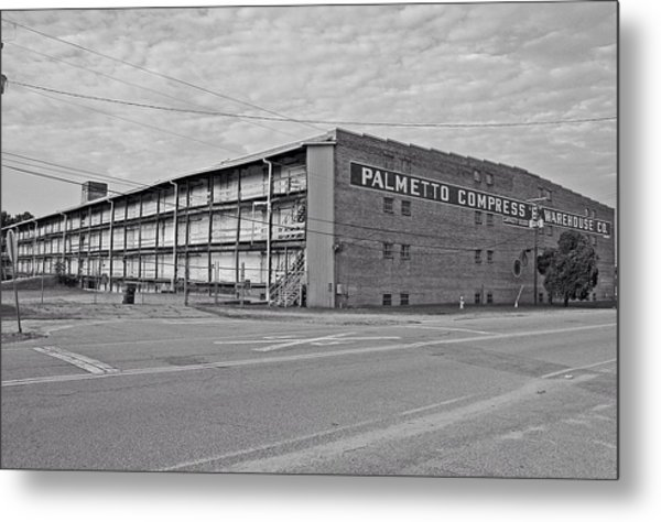 Palmetto Compress Warehouse Bw Metal Print