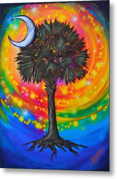 Palmetto Tree Of Life Metal Print