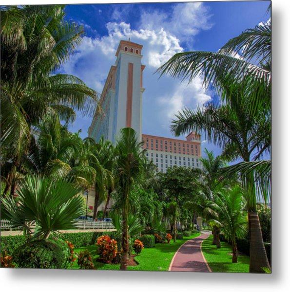 Palms At The Riu Cancun Metal Print