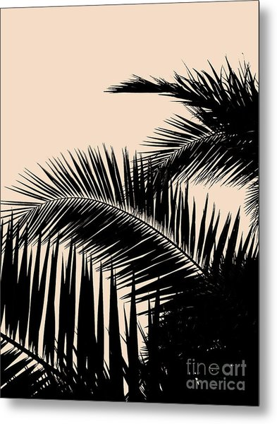 Palms On Pale Pink Metal Print