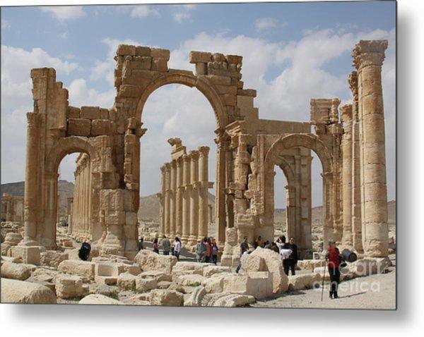 Palmyra Before...triumphal Arch Metal Print