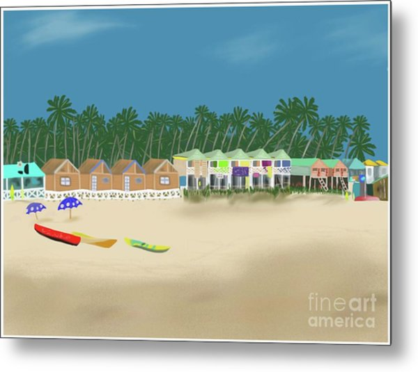 Palolem Beach Goa Metal Print