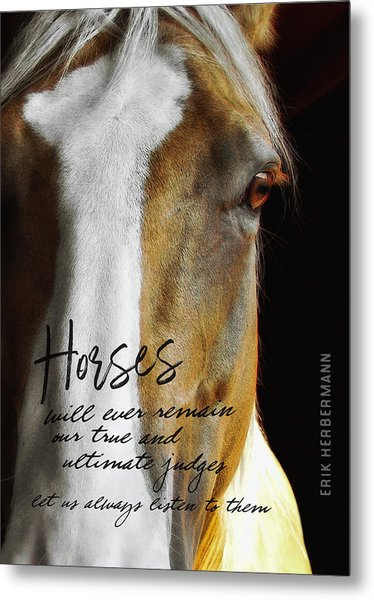 Palomino Quote Metal Print by JAMART Photography