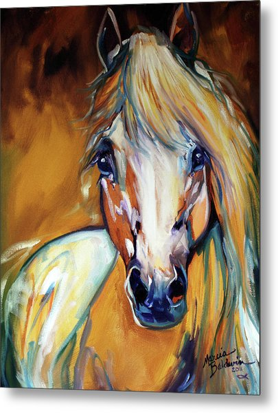 Palomino Wild Abstract Metal Print