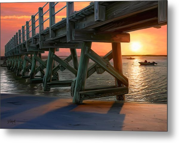 Pamet Harbor Sunset Metal Print
