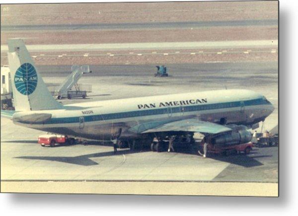Pan Am 707-321 At Los Angeles International Airport Metal Print