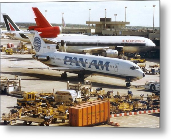 Pan American 727 Pushed Back From Its Gate At Frankfurt Metal Print