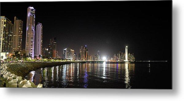 Panama City Night Metal Print