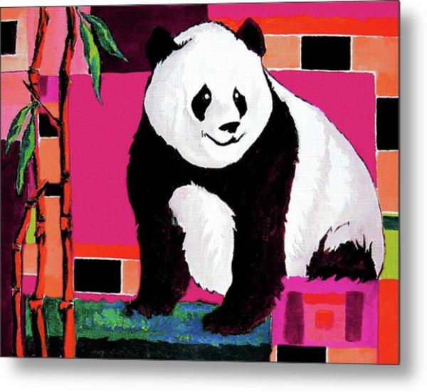 Panda Abstrack Color Vision  Metal Print