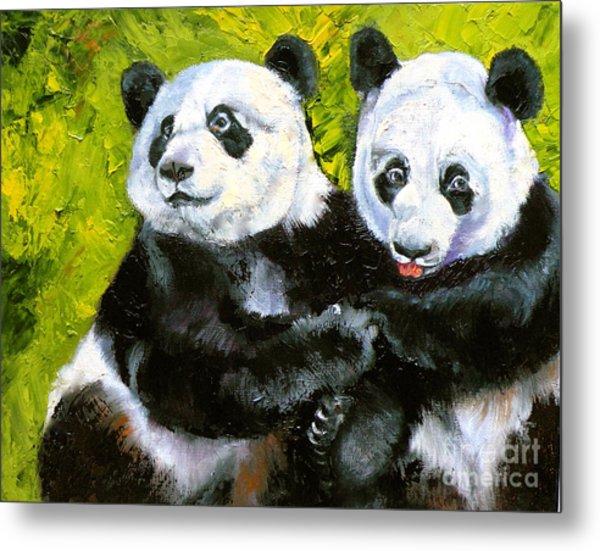 Panda Date Metal Print