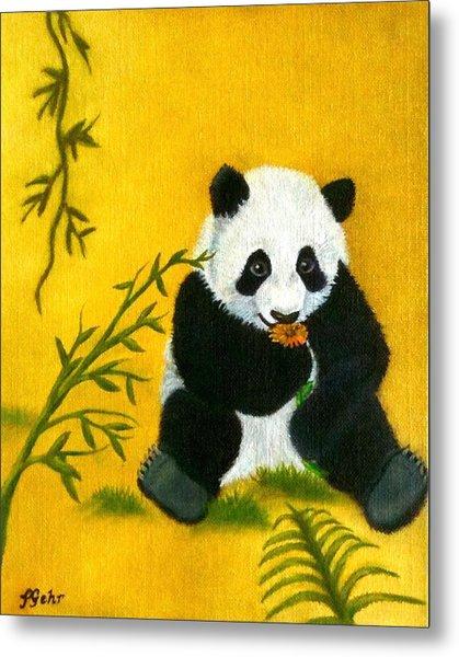 Panda Power Metal Print