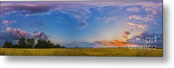 Panorama Of A Colorful Sunset Metal Print