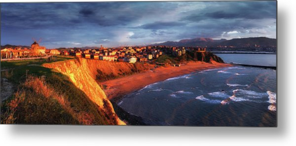 Panorama Of Aixerrota Sunset Metal Print
