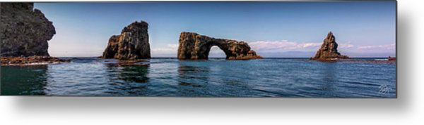 Metal Print featuring the photograph Panorama Of Anacapa Rocks by Endre Balogh