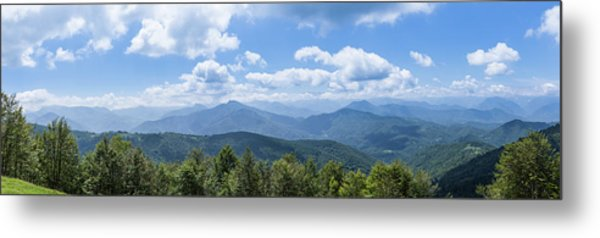 Panorama Of The Foothills Of The Pyrenees In Biert Metal Print